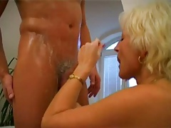 Mature Blonde Fucked in Bathroom BVR