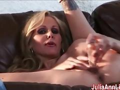 Sexy Milf Julia Ann Cums from Glass Dildo!