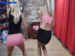 Double blondie dance and fuck
