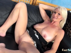 Mature Lady Rides a Stiff Shaft
