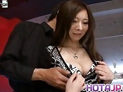 Ayami gets vibrators on dark nipples