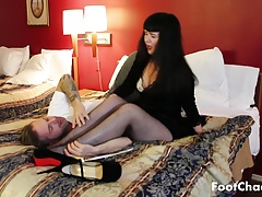 Fishnet Pantyhose Foot Worship - Goddess Scotland