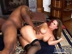Well-made bend over buddy with a genial clam gets blitzed by a black boner