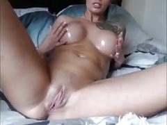 Busty Milf Dildo's Puss
