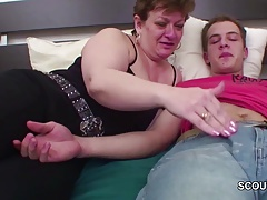 Mother Want Fuck and Seduce Friend of her Daughter to Fuck