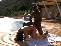 Ebony Lovers Do It Outdoors